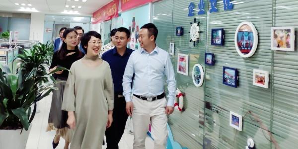 江西省委统战部副部长高鹰群一行莅临新豪彩票app下载集团考察指导
